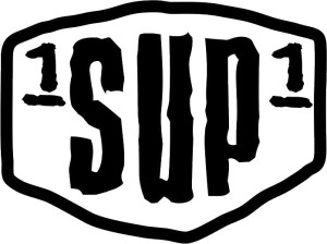 1SUP1 Black on White